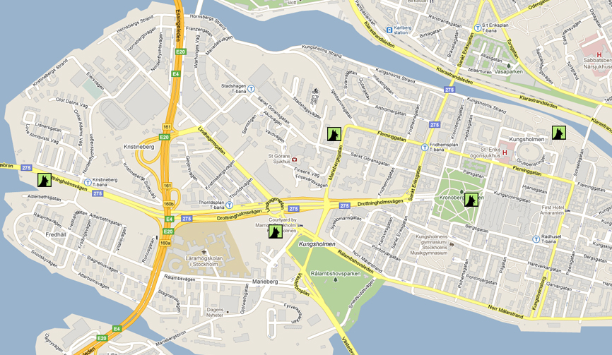 Kungsholmen map