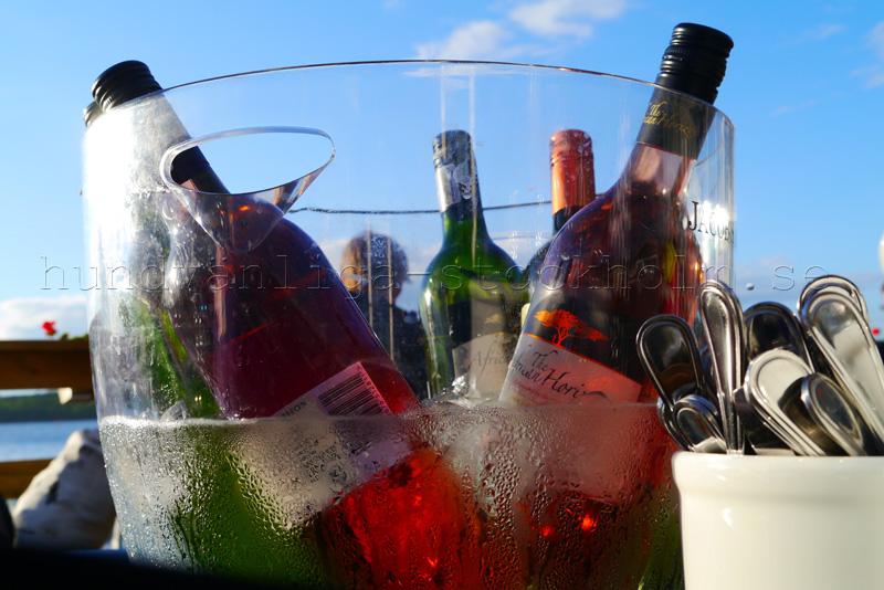 Kyldt vin en sommardag